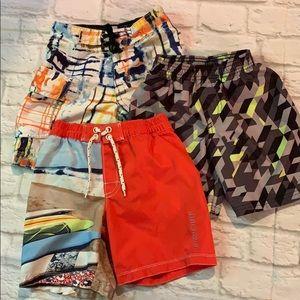 Bundle of 3 boys board shorts.  Sz 4